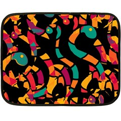 Colorful snakes Double Sided Fleece Blanket (Mini)