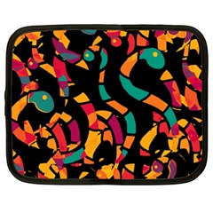 Colorful snakes Netbook Case (XL)
