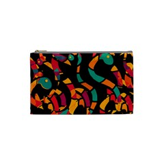Colorful snakes Cosmetic Bag (Small)