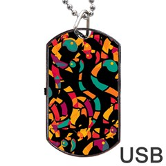 Colorful snakes Dog Tag USB Flash (Two Sides)