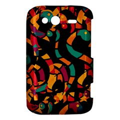 Colorful snakes HTC Wildfire S A510e Hardshell Case