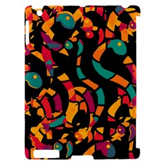 Colorful snakes Apple iPad 2 Hardshell Case (Compatible with Smart Cover)