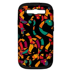 Colorful snakes Samsung Galaxy S III Hardshell Case (PC+Silicone)