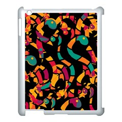 Colorful snakes Apple iPad 3/4 Case (White)