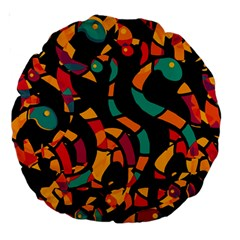 Colorful snakes Large 18  Premium Round Cushions