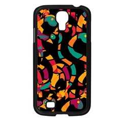 Colorful snakes Samsung Galaxy S4 I9500/ I9505 Case (Black)