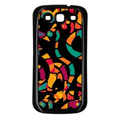 Colorful snakes Samsung Galaxy S3 Back Case (Black)