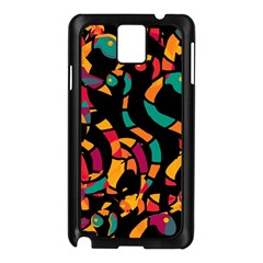 Colorful snakes Samsung Galaxy Note 3 N9005 Case (Black)