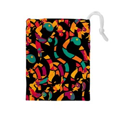 Colorful snakes Drawstring Pouches (Large)