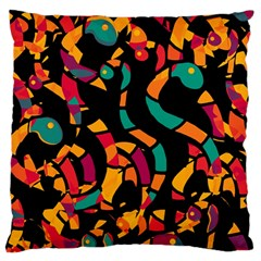 Colorful snakes Standard Flano Cushion Case (One Side)