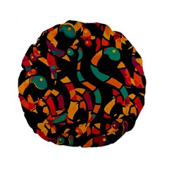 Colorful snakes Standard 15  Premium Flano Round Cushions