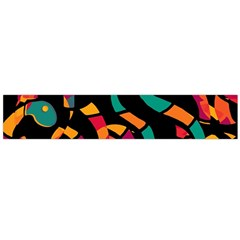 Colorful snakes Flano Scarf (Large)