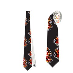 Hsp On Black Neckties (two Side)