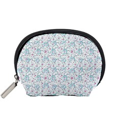 Intricate Floral Collage  Accessory Pouches (Small)