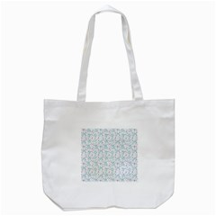 Intricate Floral Collage  Tote Bag (White)