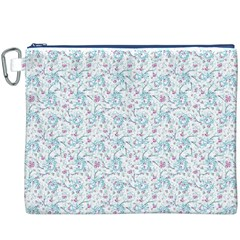 Intricate Floral Collage  Canvas Cosmetic Bag (XXXL)