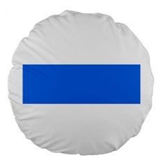 Flag Of Canton Of Zug Large 18  Premium Round Cushions
