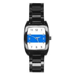 Flag Of Canton Of Zug Stainless Steel Barrel Watch