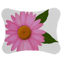 Pink Daisy Clipart Jigsaw Puzzle Photo Stand (Bow)