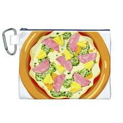 Pizza Clip Art Canvas Cosmetic Bag (XL)