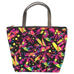 Colorful dragonflies design Bucket Bags