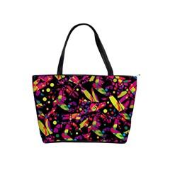 Colorful dragonflies design Shoulder Handbags