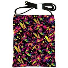 Colorful dragonflies design Shoulder Sling Bags