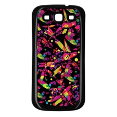 Colorful dragonflies design Samsung Galaxy S3 Back Case (Black)