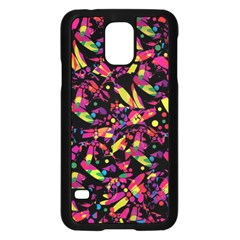 Colorful dragonflies design Samsung Galaxy S5 Case (Black)