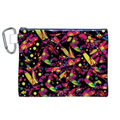 Colorful dragonflies design Canvas Cosmetic Bag (XL)