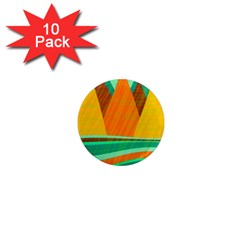 Orange and green landscape 1  Mini Magnet (10 pack)