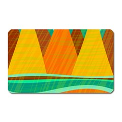 Orange and green landscape Magnet (Rectangular)