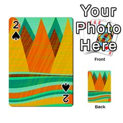 Orange and green landscape Playing Cards 54 Designs
