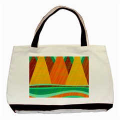 Orange and green landscape Basic Tote Bag