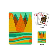 Orange and green landscape Playing Cards (Mini)