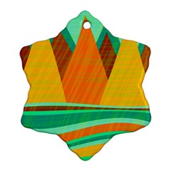 Orange and green landscape Ornament (Snowflake)
