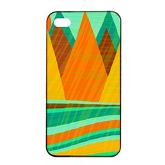 Orange and green landscape Apple iPhone 4/4s Seamless Case (Black)
