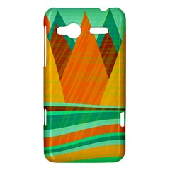Orange and green landscape HTC Radar Hardshell Case