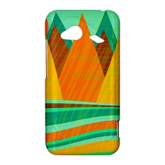 Orange and green landscape HTC Droid Incredible 4G LTE Hardshell Case
