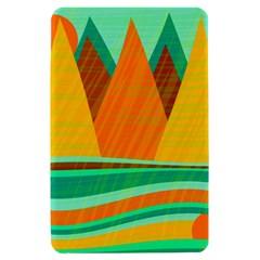Orange and green landscape Kindle Fire (1st Gen) Hardshell Case