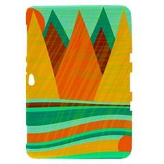 Orange and green landscape Samsung Galaxy Tab 8.9  P7300 Hardshell Case
