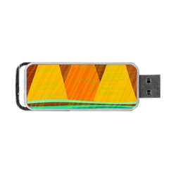 Orange and green landscape Portable USB Flash (One Side)
