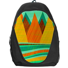 Orange and green landscape Backpack Bag