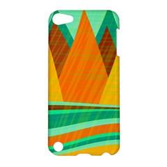 Orange and green landscape Apple iPod Touch 5 Hardshell Case