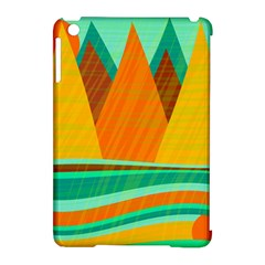 Orange and green landscape Apple iPad Mini Hardshell Case (Compatible with Smart Cover)