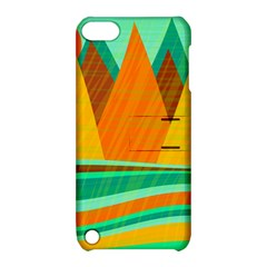Orange and green landscape Apple iPod Touch 5 Hardshell Case with Stand
