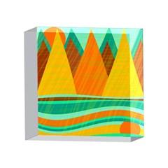 Orange and green landscape 4 x 4  Acrylic Photo Blocks