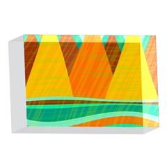 Orange and green landscape 4 x 6  Acrylic Photo Blocks