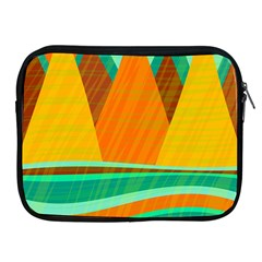 Orange and green landscape Apple iPad 2/3/4 Zipper Cases