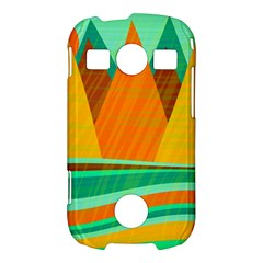 Orange and green landscape Samsung Galaxy S7710 Xcover 2 Hardshell Case